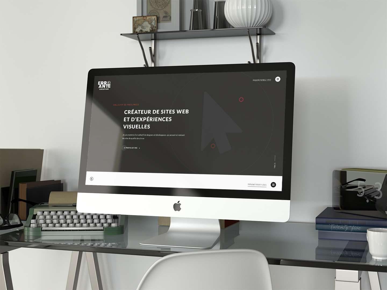 Errante Création mockup PC